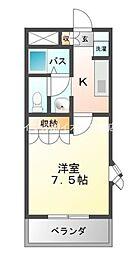 岡山県倉敷市片島町の賃貸マンションの間取り