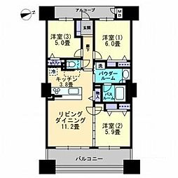 アルファタワー桜町[1408号室]の間取り