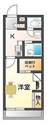 滋賀県大津市坂本3丁目の賃貸アパートの間取り