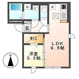 (仮)D-room道徳北町[3階]の間取り