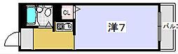 ハイコーポ京阪[504号室]の間取り