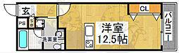 TKアンバーコート宿院[8階]の間取り