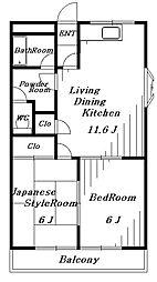 メゾンルベニール[2階]の間取り