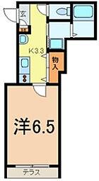 東京都台東区根岸2丁目の賃貸アパートの間取り