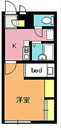 レオパレスSwing A[1階]の間取り