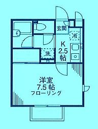 神奈川県川崎市高津区二子1丁目の賃貸アパートの間取り