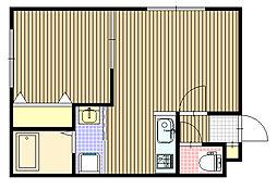 KAZU(カズ)麻生[2階]の間取り