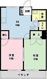 千葉県浦安市富士見2丁目の賃貸アパートの間取り