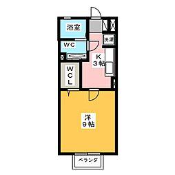 イシジンB[2階]の間取り