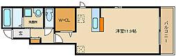 近鉄南大阪線 高鷲駅 徒歩7分の賃貸アパート 1階1Kの間取り