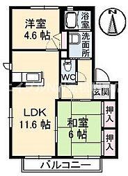サテライトN 3棟[1階]の間取り