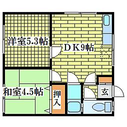 アクアトピア清田II[2階]の間取り