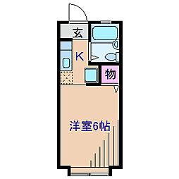 神奈川県横浜市港北区篠原東3丁目の賃貸アパートの間取り