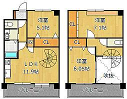 J−スクエア[11階]の間取り