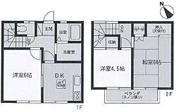 [テラスハウス] 神奈川県相模原市中央区東淵野辺3丁目 の賃貸【神奈川県 / 相模原市中央区】の間取り