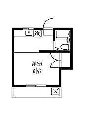 レジデンスN大岡山[1階]の間取り