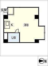 Meson issey勝川[4階]の間取り