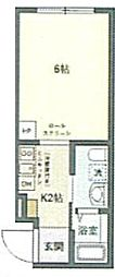 JR京浜東北・根岸線 鶯谷駅 徒歩6分の賃貸マンション 2階1Kの間取り