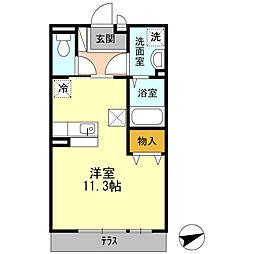 広島県呉市広中新開1丁目の賃貸アパートの間取り