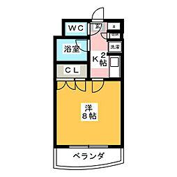 パインクレスト萩野[6階]の間取り