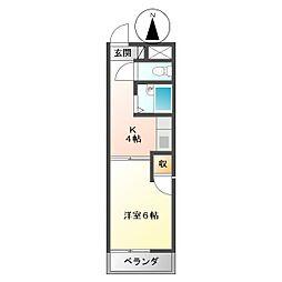オーク斉藤[5階]の間取り