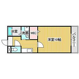 愛知県名古屋市中川区吉津1の賃貸アパートの間取り