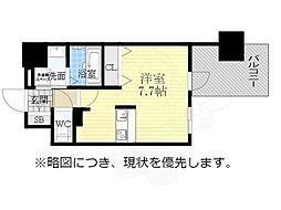 アドバンス名古屋モクシー 2階1Kの間取り