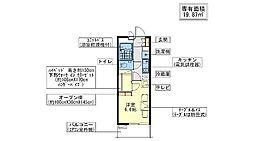 レオパレスハーバーサイドE棟[1階]の間取り