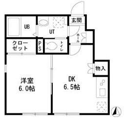 PRIME NISHIKAMATA bt[101kk号室]の間取り