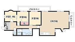 愛知県名古屋市天白区土原1丁目の賃貸マンションの間取り