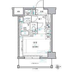レグラス横濱保土ヶ谷[702号室]の間取り