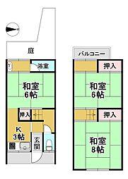 阪急嵐山線 松尾大社駅 徒歩18分 3Kの間取り