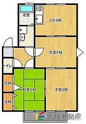 メゾンドールD棟[2階]の間取り