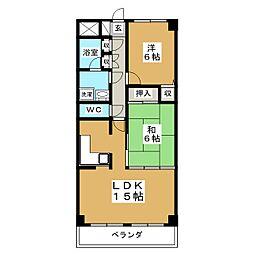 宮城県仙台市太白区柳生7丁目の賃貸マンションの間取り