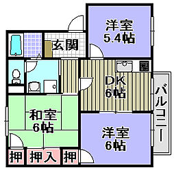 フレグランス藤井[2階]の間取り