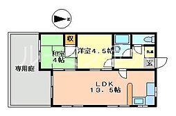 ハーベストハーバー[2階]の間取り
