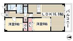 愛知県名古屋市名東区猪子石3丁目の賃貸マンションの間取り