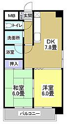 ラ・フォーレ東三方[1階]の間取り