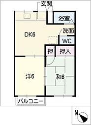 ファミール神沢[2階]の間取り