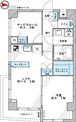 各居室のプライベート空間を保てる振分タイプの1LDKSWのお部屋です
