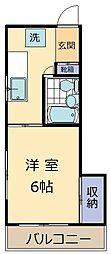 遠藤マンション[201号室]の間取り