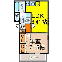 CityLife太閤(シティライフ太閤)[2階]の間取り