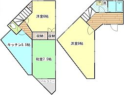 [テラスハウス] 神奈川県逗子市池子3丁目 の賃貸【/】の間取り