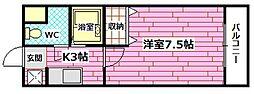 広島県広島市安芸区矢野西4丁目の賃貸マンションの間取り