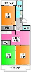 プレセアコート[2階]の間取り