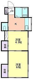 壽荘[101号室]の間取り