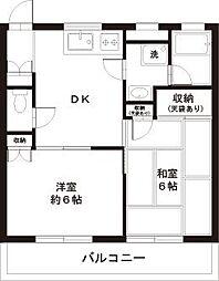 東京都八王子市子安町3丁目の賃貸マンションの間取り