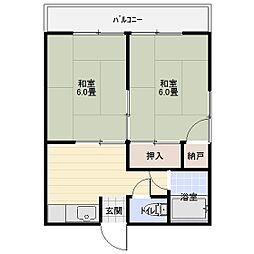 富士見コーポ[203号室]の間取り