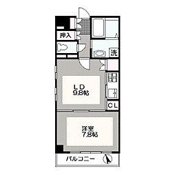 東京都江戸川区西葛西4丁目の賃貸マンションの間取り