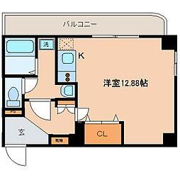 メイフェアハウス三田[507号室]の間取り